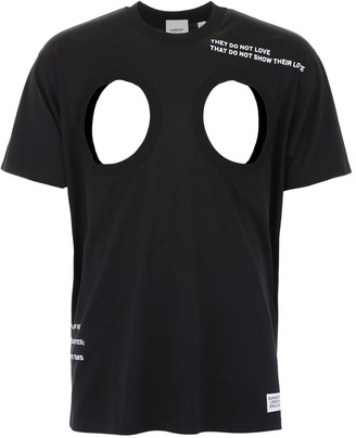 Burberry Cut-Out Detail Montage T-Shirt