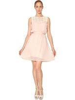 Blugirl Lace Macramé And Techno Chiffon Dress