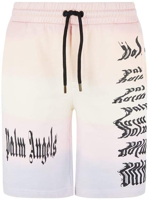 Palm Angels Tie-Dye Logo Shorts