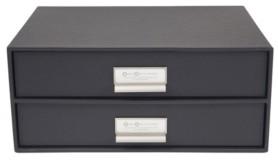 Bigso Box of Sweden Birger 2 Drawer File Box