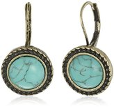 Jessica Simpson Turquoise Lever Back Drop Earrings
