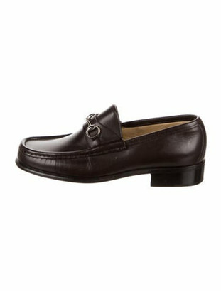 Gucci 1955 Horsebit Accent Leather Loafers Brown