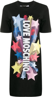 Love Moschino Shooting Stars T-shirt dress