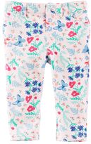 Osh Kosh Baby Girl Floral Butterfly Print Pants