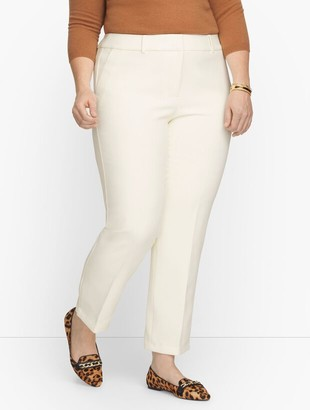 Talbots Plus Size Exclusive Hampshire Ankle Pants - Lined Ivory