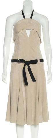 Alexis Suede Halter Dress w/ Tags