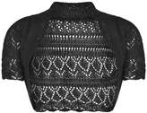 Momo Fashions Girls Kids Crochet Short Sleeve Knitted Bolero Shrug Age 2-14 Years