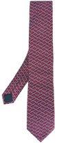 Lanvin slanted square pattern tie