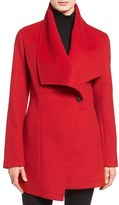 Laundry by Shelli Segal Women's Double Face Drape Collar Coat