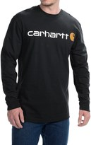 Carhartt Signature Logo T-Shirt - Long Sleeve (For Big and Tall Men)