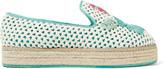 M Missoni Raffia and twill espadrille slippers