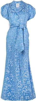 Rosie Assoulin puff sleeve jacquard maxi dress