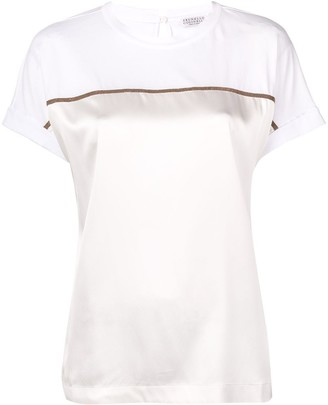Brunello Cucinelli contrast band T-shirt
