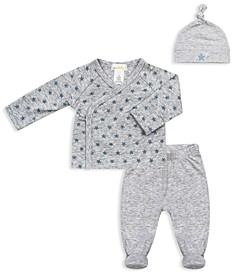 Bloomie's Boys' Take Me Home Star Print Top Footie Pants & Hat Set - Baby