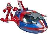 Iron Man Super Hero Squad Deluxe Vehicle - Quin Jet w/ Captain America
