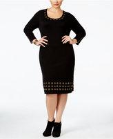 Calvin Klein Plus Size Grommet-Trim Sweater Dress