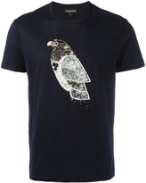 Emporio Armani beaded bird T-shirt - men - Cotton - S