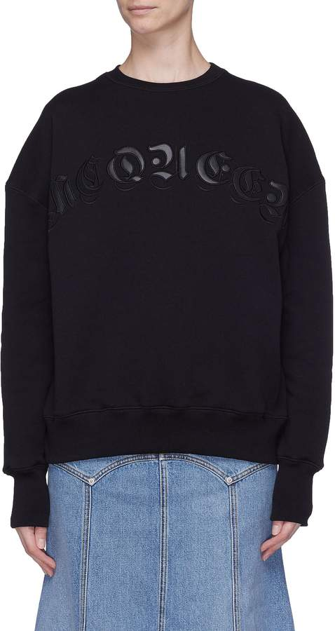 Alexander McQueen Logo embroidered sweatshirt