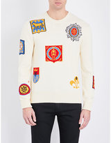 Alexander Mcqueen Motif-embroidered Knitted Cotton Jumper