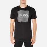 BOSS GREEN Men's Tee 8 Raised Print TShirt - Black