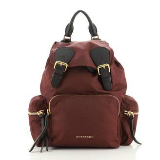 Burberry Purple Leather Backpacks