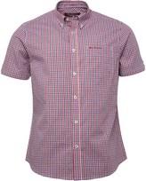 Ben Sherman Short Sleeve Three Colour Gingham Shirt Red/White/Blue