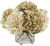 """Winward Silks 15"""" Hydrangea in Vase - Faux"""