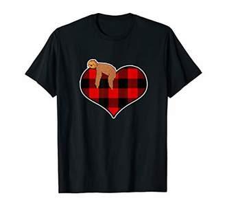Buffalo David Bitton I Love You Plaid Love Heart Valentines Day Gift T-Shirt