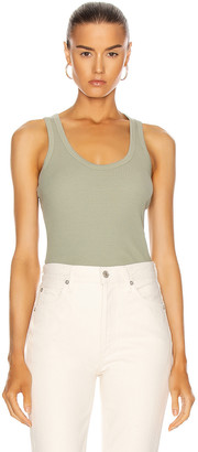 John Elliott Cotton Rib Tank Top in Chaparral | FWRD