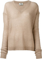 Acne Studios V-neck sheer jumper