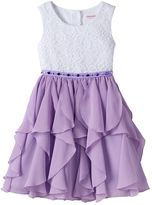 Youngland Girls 4-6x Lace Chiffon Dress