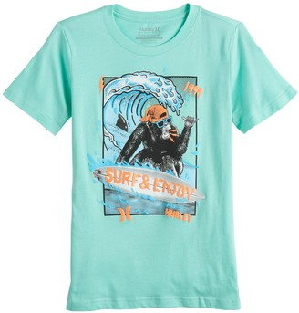 Hurley Boys 8-20 Surfing Monkey Graphic Tee