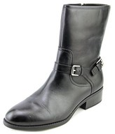 Lauren Ralph Lauren Mesi Women Round Toe Leather Mid Calf Boot.