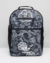 adidas Farm Print Backack In Monochrome Floral
