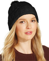 Charter Club Chenille Pom Pom Cuff Hat, Only at Macy's
