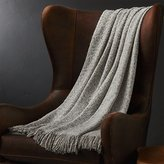 Crate & Barrel Weldon Taupe Throw