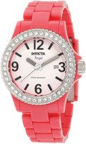 Invicta Women's 1637 Angel Collection Crystal-Accented Pink Watch