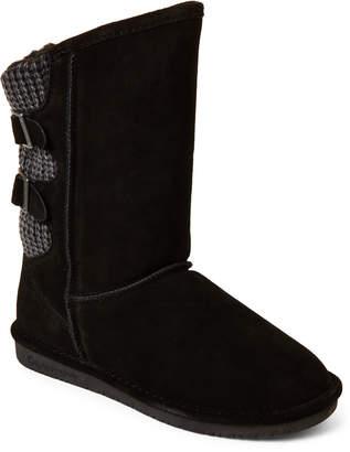 BearPaw Black Boshie Real Fur & Suede Boots