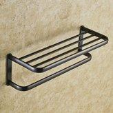 XXAH@ XAH@ European copper antique Towel rack black bathroom Towel rack rack metal pendants