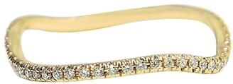 BONDEYE JEWELRY 14kt Yellow Gold Diamond Wave Ring
