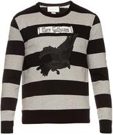 Gucci Parrot-appliqué cotton sweatshirt