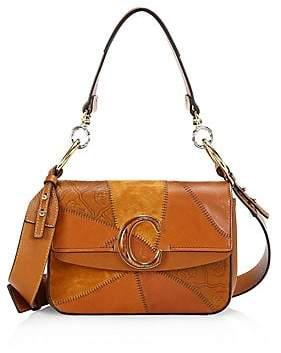Chloé Women's C Patchwork Leather Shoulder Bag