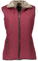 Weatherproof Mulberry Faux Fur Quilted Vest - Plus