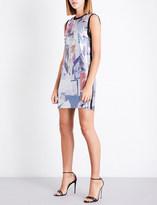 Versace Abstract-pattern metal-mesh mini dress