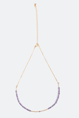 francesca's Kassandra Beaded Layered Choker - Purple