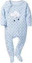 Sterling Baby Star & Cloud Double Knit Footie (Baby Boys)