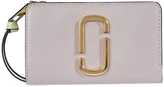 Marc Jacobs Snapshot Compact Wallet (Dusty Lilac Multi) Wallet Handbags
