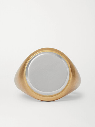 M. Cohen 18-Karat Gold And Sterling Silver Signet Ring