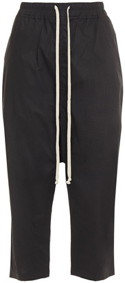Rick Owens Cropped Cotton-poplin Harem Pants