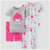 Just One You made by carter Baby Girls' Snug Fit Cotton 4pc Pajama Set - Just One You Made by Carter's®